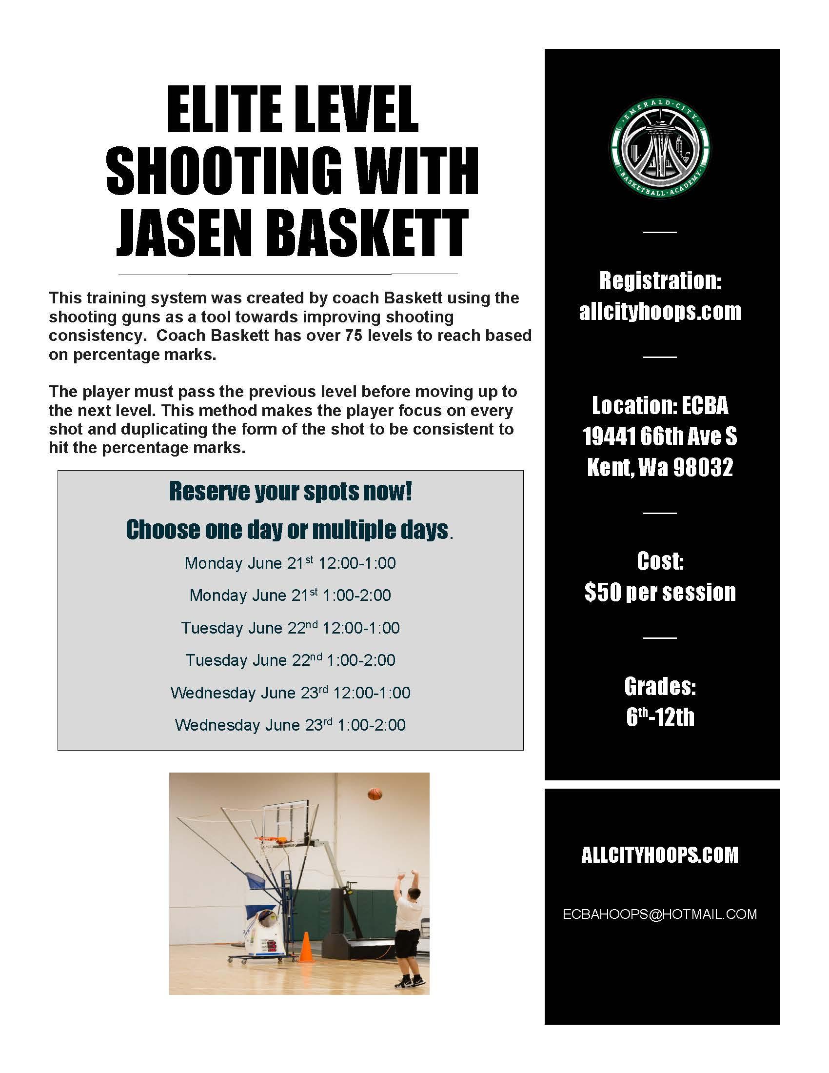 ELITE LEVEL SHOOTING WITH JASEN BASKETT